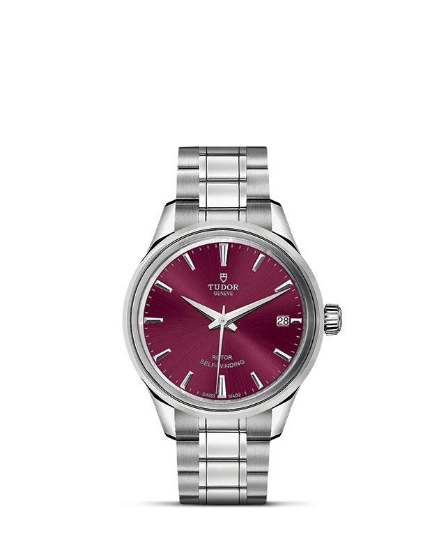 Style – 34 mm steel case – Burgundy dial Image