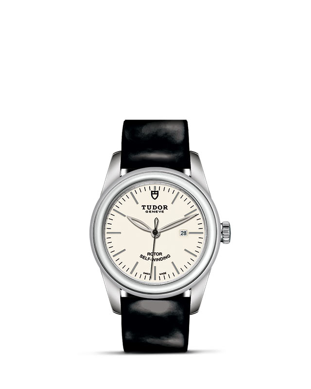 Glamour Date – 31 mm steel case – Opaline dial Image